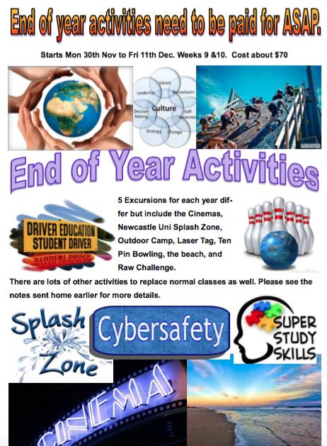 End of Year Activities - Morisset High School